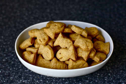 a bowl of cheddar fish