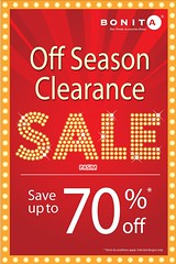 Bonita Last Season Clearance 15 Feb – 10 Apr 2011