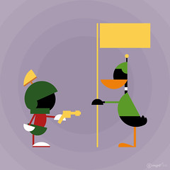 Daffy Duck and Marvin the Martian