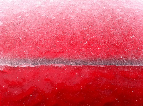 Car door iced shut