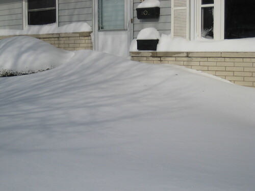 drifts front of house