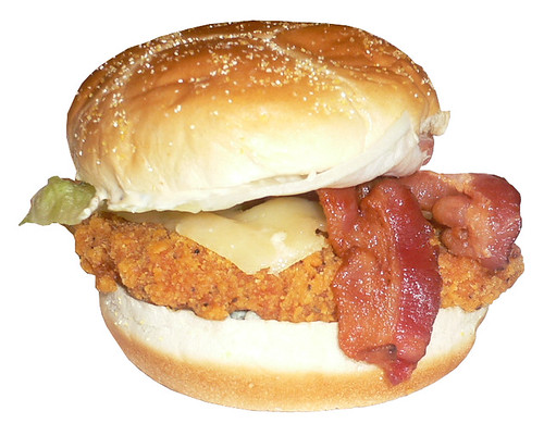 Wendy's Spicy Bacon & Blue Chicken Sandwich