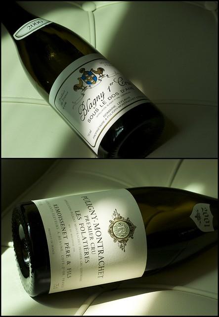 Remoissenet Puligny-Montrachet Folatieres 2001 and Leflaive's Blagny 2000