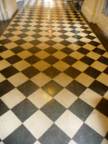 Original Flooring outside Dining Room