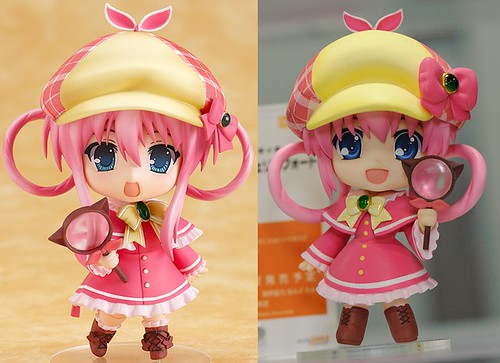 Nendoroid Sharo: original (left) and anime version (right)