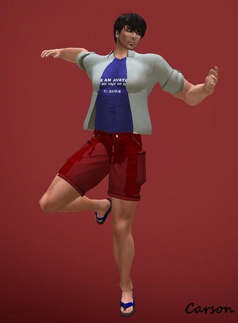 22769 Blue Tank, Open Shirt & Cargo Shorts