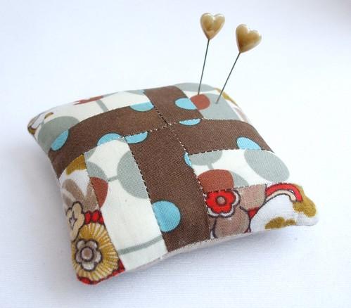 A scrappy pin cushion