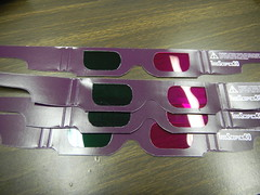 Magenta Green Glasses
