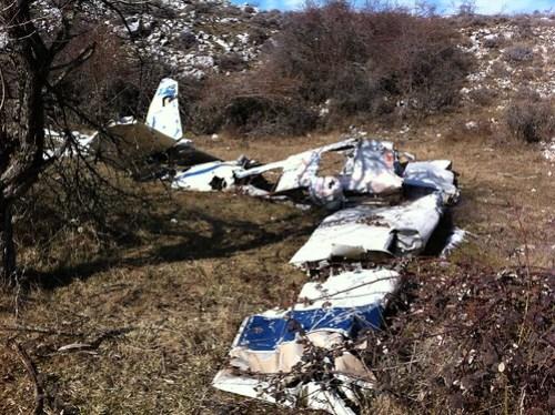 Avion de tourisme crashé au col de vence