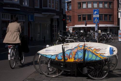 Surfboard on a bike!