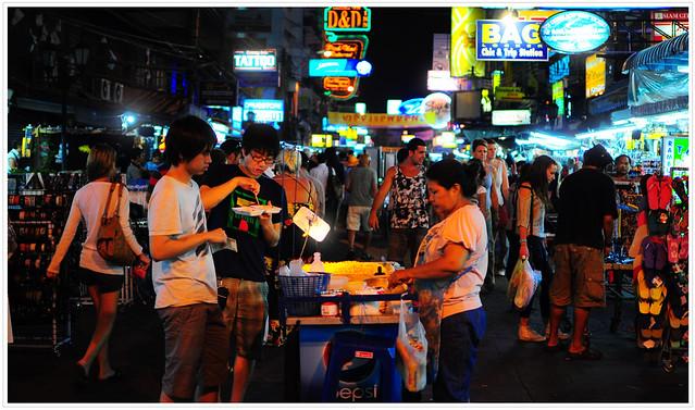 On the night street of Bangkok...Khao San