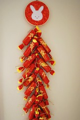 Year of the Rabbit Chinese New Year Firecracker Wall Hanging