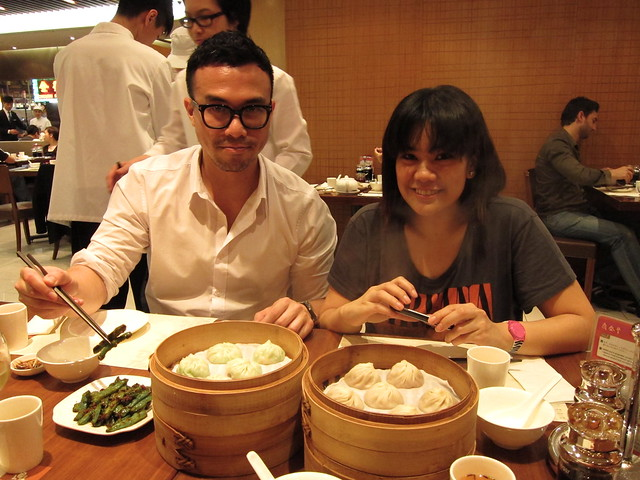 My partners in dimsum: James and Jiki