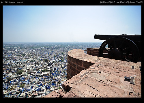 From ramparts of Meherangarh. Overlooking the blue city