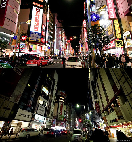 shinjuku, with and no light