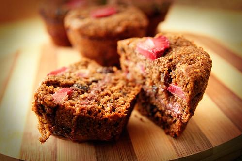 Slightly-blurred-strawberry-muffin