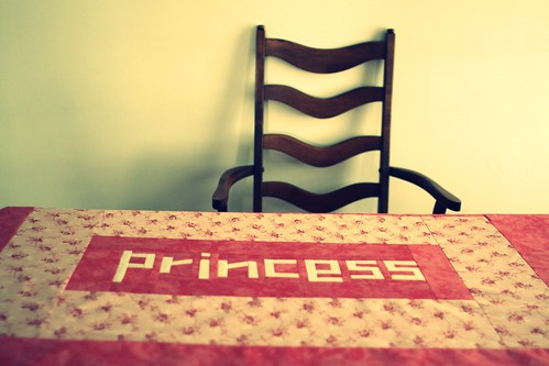princess on table