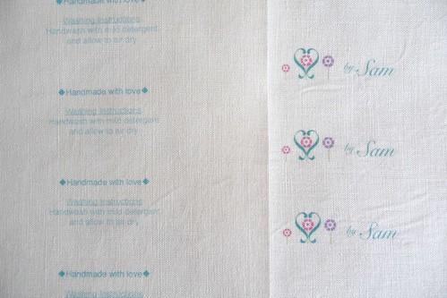 linen labels by Samantha Halliwell