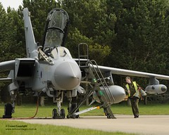RAF Personnel Prepare Tornado Aircraft Ahead o...