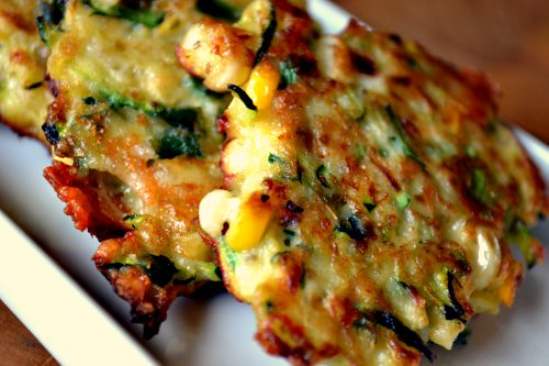 Zucchini and Corn Tortitas