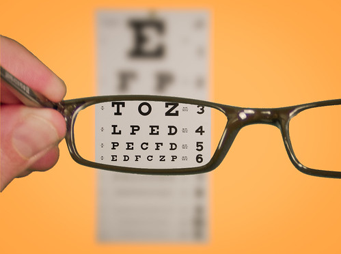 Vision Of Eyechart With Glasses