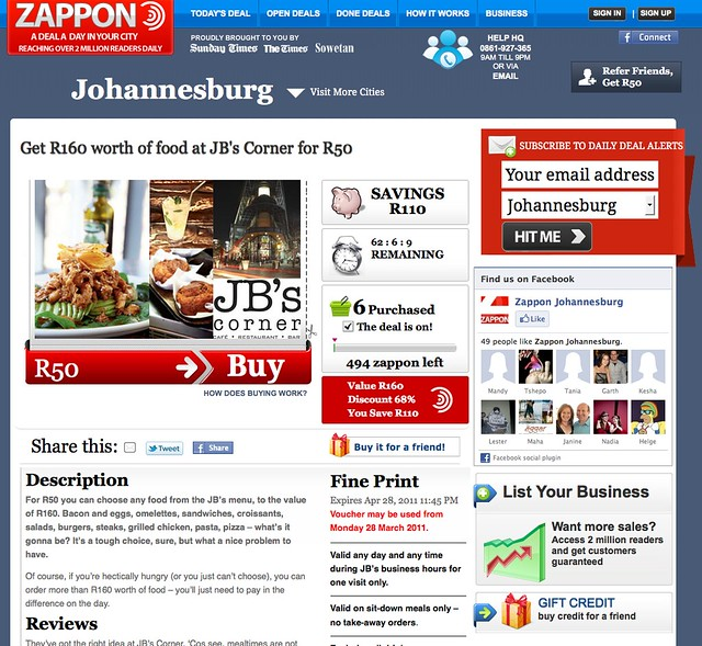 A deal on Zappon