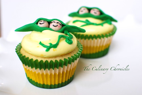 """Two Peas in a Pod"" Lemon Cupcakes"