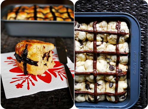 Chocolate Chip Hot Cross Buns II