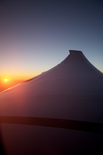 Blue hour at 30,000 ft..
