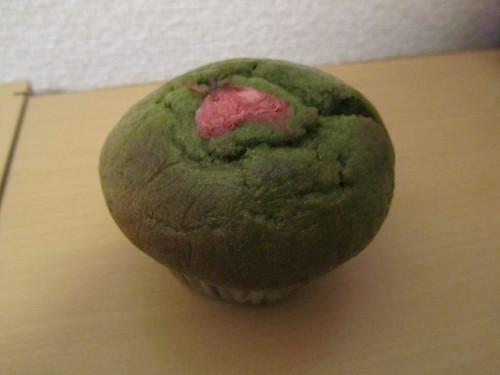 Sakura matcha muffin