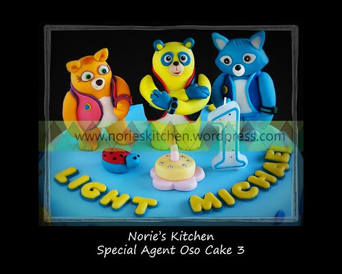 Norie's Kitchen - Special Agent Oso Cake with Wolfie and Dottie