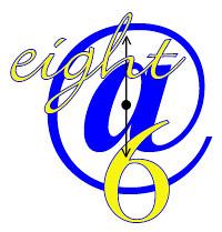 eight@6 logowclock