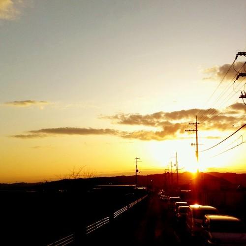 夕焼け。 今日も一日、お疲れ様でした。#Nara #sunset