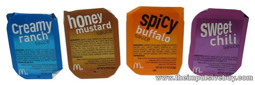 """New"" Chicken McNuggets Sauces (Creamy Ranch, Honey Mustard, Spicy Buffalo, and Sweet Chili)"