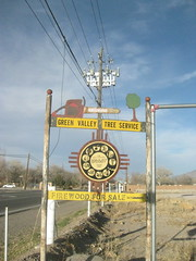 Roadside sign, Corrales, NM