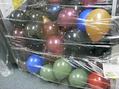 Close up of the balloons.  Lindsey blew up most of them!