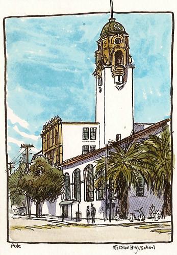 sketchcrawl 31: mission high school