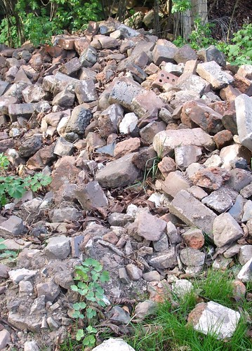 Rubble from the excavations
