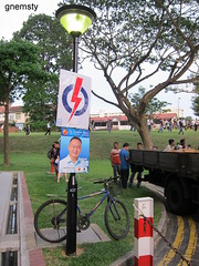 Day 1 of rallies: Near Hougang MRT (Workers' Party)