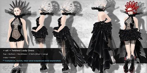 + eX + Twilight Lady Dress *Black