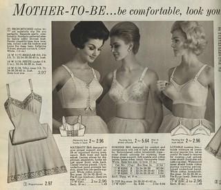 Spiegel 1963 maternity bras