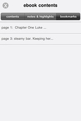 nook for iPhone: bookmarks overview
