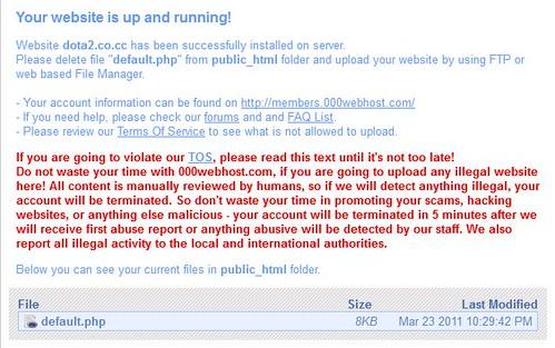memastikan domain-hosting telah terhubung