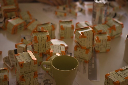 Train ticket cubes, by Charlie (SonniesEdge on Flickr)
