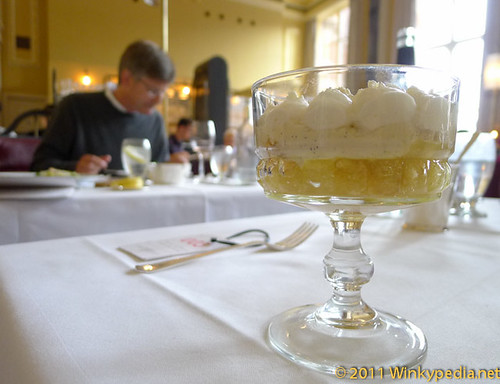 Lord Mayor's trifle at Gilbert Scott by Marcus Wareing at St Pancras Hotel