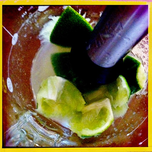 Limes, Muddled with sugar