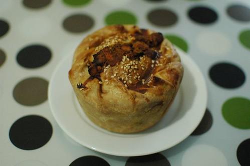 Lentil and vege pie
