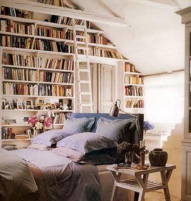 libary in bedroom
