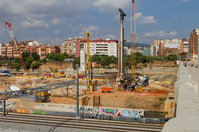 Pont del Treball - Sur - Obras Metro L9 - 08-07-2011