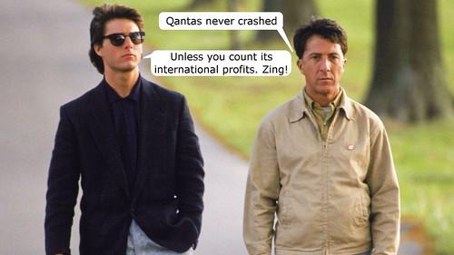 Qantas International Profit Crash